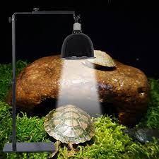 Ayarlanabilir teleskopik sürüngen lamba standı ısıtma lambası tutucu Metal  zemin duvar lambası kertenkele kaplumbağa kaplumbağa küçük sürüngen Habitat  Decor