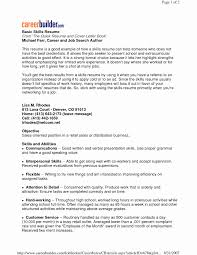 How Many Jobs To List On Resume Skills for Resume Examples Awesome Skills Resume Examples List 60