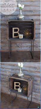 diy wood crate pipe industrial table instructions diy wood crate furniture ideas projects