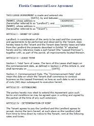 Commercial Lease Sample Rental Long Term Contract Template Free ...