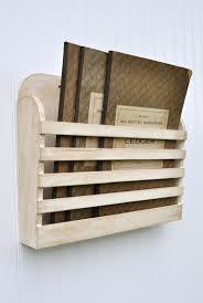 Rustic Hanging Magazine File Holder Antique White Cream Shabby Vintage  Design Storage Organizer via Etsy.