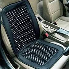 sdwav car wooden bead seat cushion with black velvet border