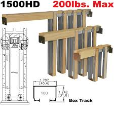 picture of 1500hd series heavy duty pocket door frame kits