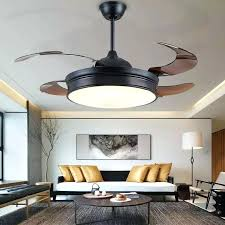 dimmable ceiling fans modern invisible acrylic leaf led ceiling fans white black steel led ceiling fan