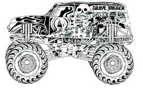 Coloring Pictures Of Monster Trucks Monster Truck Coloring Page