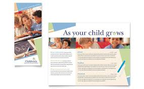 Child Care Pamphlets Templates Design Examples