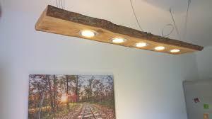 Led Decken Holz Lampe Rustikal 120cm 5x 7w Massivholz Neu Lärche