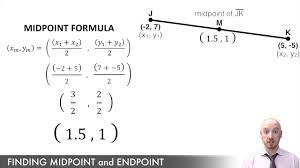 Endpoint Formula Midpoint And Endpoint Formula