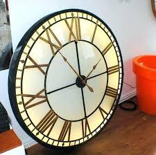extra large clocks big illuminated light skeleton vintage clock metal wall for illum large vintage style grey wall clock
