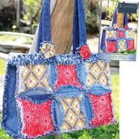 DENIM CIRCLE RAG QUILT PATTERN-Pieced Quilts-Patterns & DENIM CIRCLE RAG BAG PATTERN Adamdwight.com