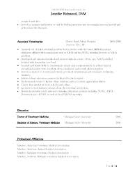 Veterinary Technician Resume Objective Veterinary Resume Samples