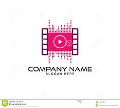 Music Video Logo Design Music And Video Media Record Vector Icon Logo Design Stock