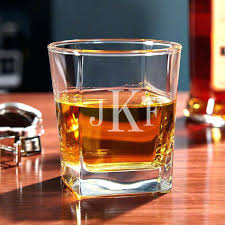 personalized whiskey glasses square custom engraved rocks set of 2 scotch monogrammed crystal