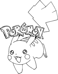 Blank Coloring Pages For Kids Pikachu With Willpower Pikachu