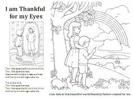 Small Picture 19 I am thankful for my eyes coloring sheet LDS Sunbeam