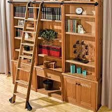 ... 10' Rockler Classic Rolling Library Ladder - Wood Kits ...