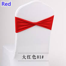 colour red spandex sashes lycra sash for chair cover spandex bands bow tie for wedding decoration banquet design