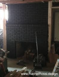 painted black fireplace