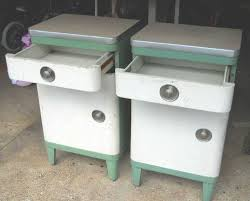 simmons metal furniture. 2 Vintage Simmons Metal Kitchen , End Table Cabinets 50\u0027s Early 60\u0027s Retro Furniture 7