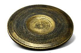 gold platter wooden wall art