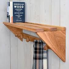 Oak Coat Racks Buy Oak Coat Rack with Shelf The Worm that Turned revitalising 90
