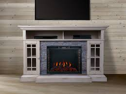 bennett 61 in infrared electric fireplace tv stand in farmhouse ivory asmm 017