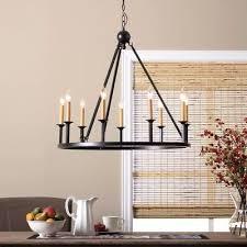 rustic chandelier lighting circular round light fixture farmhouse hanging lamp