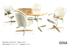 swivel dining chairs with casters dining chairs on casters kitchen dinette chairs dinette chairs with wheels