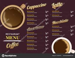 Cafe Menu Template Restaurant Cafe Menu Template Design Food Flyer Stock