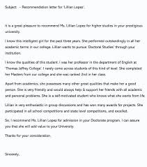Writing A College Recommendation Letter For College Admissions Recommendation Letter Template For College Admission