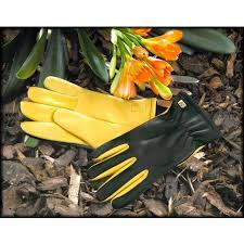 details about gold leaf dry touch gloves las fit womens leather gardening gloves