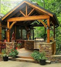 Rustic Outdoor Kitchen Ideas Elegant Awesome Kitchens
