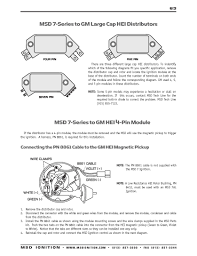 msd ignition wiring diagrams com msd 7 series to gm 4 5 and 7 pin hei part 1