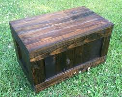 Rustic Reclaimed Trunk Reclaimed Rustic Toy Box Reclaimed Hope Chest Rustic  Coffee Table Reclaimed Rustic Bench Pallet Wood - Dark Walnut