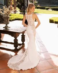 Casabanca 2390 Shoshanna Lace And Crepe High Neck Fit N Flare Wedding Dress