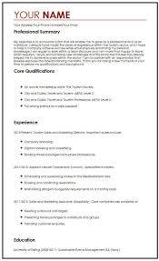 Professional Resume Objective Cv Sample With Career Objectives Myperfectcv