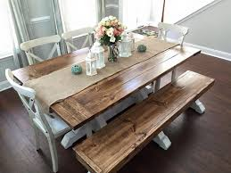 diy projects creative marvelous farmhouse kitchen table with bench best 25 farmhouse table with bench ideas