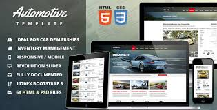 auto parts website template automotive car dealership business html template by themesuite