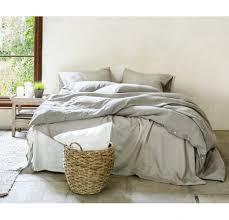 rough linen bedding bedsheets duvet cover queen king twin bedroom interior bright blue set solid sets
