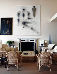mix mastery in marella agnelli s rome living room wicker coexists with high end