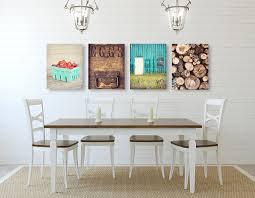 farmhouse wall art kitchen decor set of four prints or peaceful