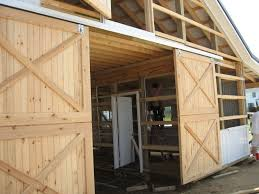 image of perfect exterior sliding barn door hardware