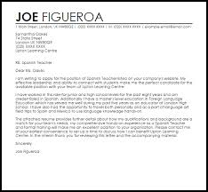 Resume Examples Templates: Spanish Teacher Cover Letter No ...