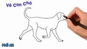 Vẽ con chó dễ thương - YouTube