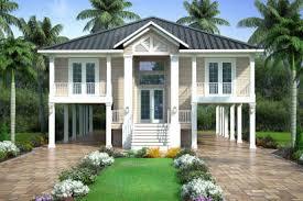 House on stilts embraces the rocky norwegian landscape. Coastal Style House Plans Beach Home Design Floor Plan Collection