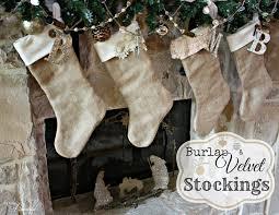diy burlap and velvet stockings