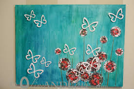 3d canvas art with erflies and sbook flowers