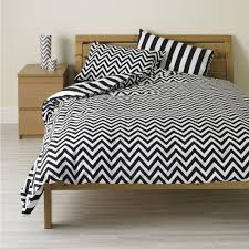 large image of wilko striped duvet set black double opens in a new window