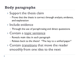 the components of an essay english the main components of  7 body paragraphs