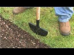 a manual lawn edger